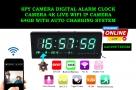 Digital-Wall-Clock-4K-Wifi-Camera-64GB-with-auto-Charging-System