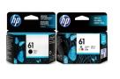 2 Pack Genuine HP 61 Black & Colour Ink Cartridge Set