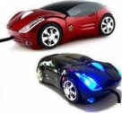 LED Light With Wireless Car shape mouse