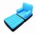SINGLE FLOCKED INFLATABLE SOFA AIR-BED ARM CHAIR