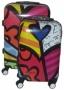 COLOR LOVERS SPINNER WHEELS SCRAWL TROLLEY SUITCASE LUGGAGE (2 PIECE SET)