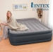 Intex Inflatable Double Queen Mattress Air Bed with Built-in Pillow