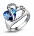 Feeling Of Love Blue Heart Finger RING (QSH)