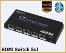 4K 5-Port HDMI Switch with remote control