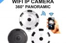 360° Panoramic Wifi IP Camera 5in1 view Night Vision Motion Detector