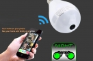 IP Camera LED Bulb 360° Panoramic Wifi Camera Night Vision