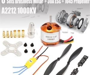 A2212-1000KV-Motor-30A-Brushless-ESC-1045-Propeller-For-DJI-F450-550-FNHB