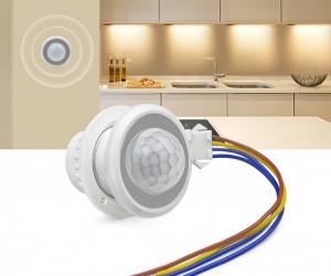 40mm-PIR-Infrared-Ray-Motion-Sensor-Switch-Time-Delay-Adjustable-Mode-Detector-Switching
