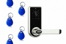 Electronic Smart Keyless Door Lock Code Keypad Security Entry+ 5 RFID Card Tag
