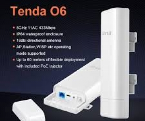 Tenda-O6-5GHz-35KM-Wireless-Outdoor-Point-to-Point-CPE-Router
