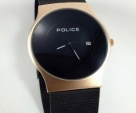 POLICE BLACK GOLD SAFER BELT ULTRA SLIM WATCH