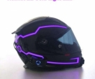 motorcycle helmet EL cold light strip night sign luminous light modified strip motorcycle Motocross Racing helmet LED strip-Black