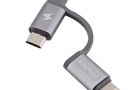 Awei 2 In 1 Android & IPhone Data Cable