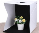 Folding Portable Lightbox Mini Photo Studio Small Shooting Box Photography Lighting Tent Kit for Smartphone or DSLR Camera 20 cm-Black