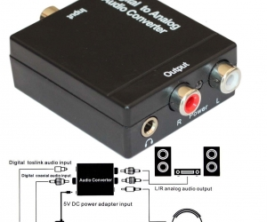 Digital-to-Analog-Audio-Converter-Optical-SPDIF-Toslink-Coaxial-to-RCA-LR-Adapter-with-35mm-Jack-24-bit-192kHz-DAC-Supports-Simultaneous-Headphone-and-Speaker-Outputs