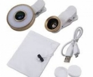 6 In 1 Selfie LED Flash Clip Fish Eye Lens Macro Wide Angle Lens