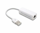 USB 2.0 Fast Ethernet Adapter 10 / 100 Mbps Lan Card – White