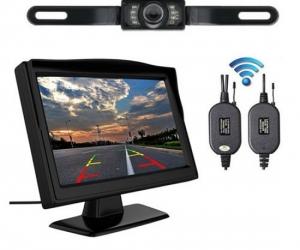 5-Inch-Wireless-Car-Rear-View-License-Plate-Camera-Backup-Monitor-Wireless-Parking-Night-Vision-Camera-Kit
