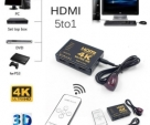 HDMI Switch 5 to 1 4K*2K 3840*2160P Ultra HD HDMI Switcher Splitter 5-Port HDMI Splitter+With Remote Control For TV Box PS4 DVD PC