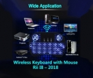 Wireless Keyboard with Mouse Rii I8 2018
