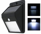 Solar Motion Sensor LED Outdoor Light -Black