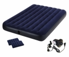 Best-Quality-Intex-Air-Bed--Inflatable-Airbed--Air-Mattress-With-Electric-Air-Pump