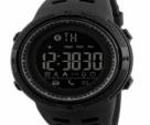 Men Smart Chrono Calories Pedometer Sports Digital Wrist Watches - BLACK
