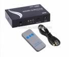 5 port hdmi switch 5x1 support 3d with IR and push button, plug and play support 1080p