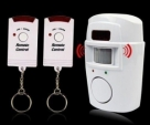 Wireless Remote control IR infrared motion Sensor detector loud siren for home security Anti-Theft-White