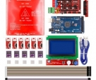 3D Printer Kit with Ramps 1.4 + Arduino Mega 2560 r3 + Heatbed mk2b + 12864 LCD Controller + DRV8825 Driver +Mechanical switch +Cables