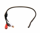 CCTV Camera Audio Microphone with Power - Black