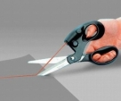 Laser-Guided-Scissors-For-home-Crafts-Wrapping-Gifts-Fabric-Sewing--Black