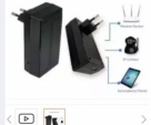 12V mini UPS for router and cameras-Black
