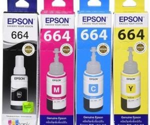 Epson-T664-Ink-Genuine-Black-Cyan-Magenta-Yellow-Set