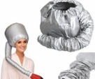 Generic Portable Soft Hair Drying Cap Bonnet Hood Hat Blow Dryer Tool-Silver