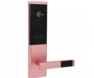 Hotel-Card-Door-Lock-2027E-Pink-Copper-YZC-2027E