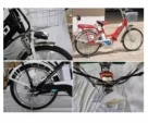 Pedal assists Electric Bicycle-Red Blue Black With White