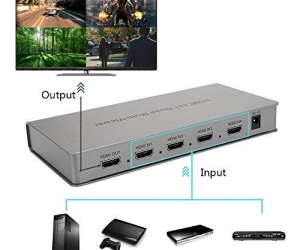 4x1-HDMI-Quad-Multi-Viewer-NEWPOWER-HDMI-Switcher-4-Ports-with-Seamless-Switch-and-IR-Remote-Support-1080P-60HZ-White