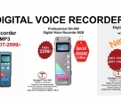 Digital Voice Recorder USB with MP3 8GB