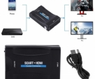HDMI-To-SCART-Adapter-1080p-Video-Audio-Converter-USB-Power-Cable-For-Scaler-Smartphone-STB-DVD-Black