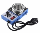 220V-150W-Solder-Pot-Soldering-Desoldering-Bath-50mm-ST-21C-450-Degree-Temperature-Controlled-Melting-Tin-Pot-Tin-Cans-Blue