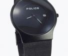 POLICE BLACK SAFER BELT ULTRA SLIM WATCH