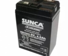 SUNCA 6V Rechargeable Battery - Black