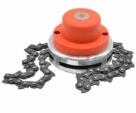 Power-chain-cutter-head-trimmer-coil-chain-brush-lawn-cutter-garden-trimmer-for-lawn-mower-Orange