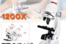 100X-400X-1200X-Children-Microscope-Set-W-Mobile-Phone-Holder-Science-Education