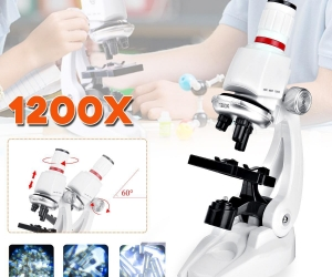 100X-400X-1200X-Children-Microscope-Set-W-Mobile-Phone-Holder-Science-Education