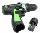 Cordless Electric Screwdriver Hand Drill Dual Battery-Green