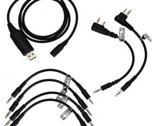 Walkie-Talkie-USB-Programming-Cable-Generic-6-In-1-Adapter-Cables-Black