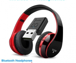 Wireless-TV-Headphone-with-Transmitter-Stick-For-TV-Computer-Phone