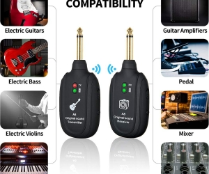 Wireless-Guitar-Transmitter-Receiver-UHF-Digital-Wireless-Guitar-System-Rechargeable-Built-for-Electric-Guitar-Bass-Audio-transmissionA-Replacement-for-Guitar-Cable